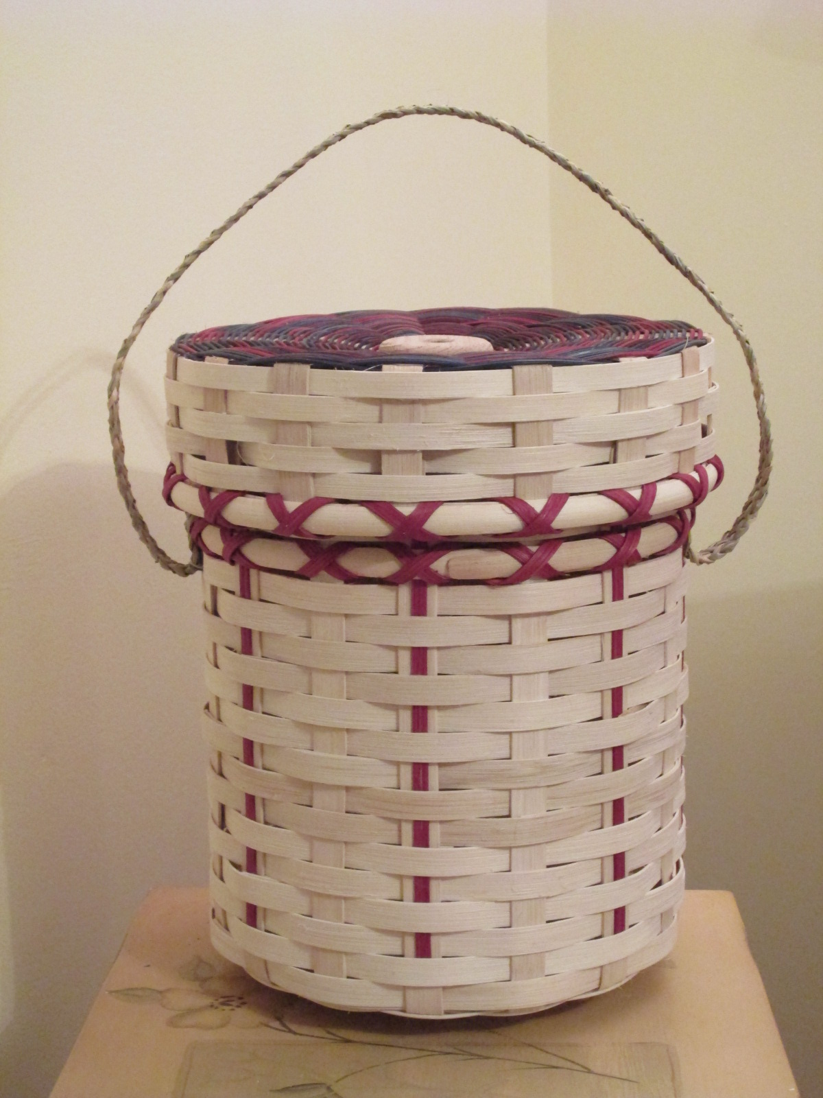 How To Make A Woven Yarn Basket : Knitting basket a whole lot of weaving
